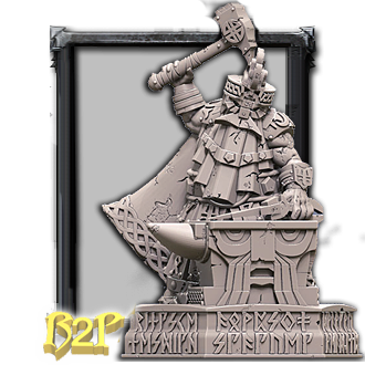 Dwarf Runic Smith statue